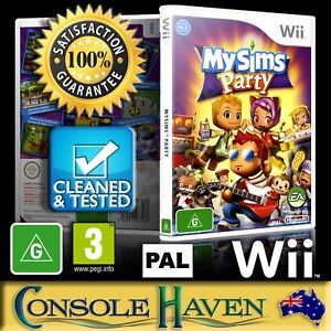 Wii-Game-MySims-Party-My-Sims-G-Simulation-PAL-Guaranteed-Cleaned