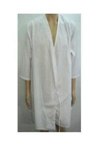 LAB COAT***65% POLYESTER *** 35% COTTON ***WHITE*** LABCOAT XL