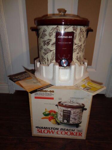 Vintage Hamilton Beach Scovill Slow Cooker 454RH Simmer-On Natural Earth Design