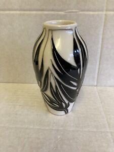 Moorcroft-Moser-Vase-200-5-Vicky-Lovatt-RRP-165-Monochrome-Christmas-Gift