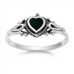 Ring-Genuine-Sterling-Silver-925-Black-Onyx-Jewelry-Gift-Face-Height-8-mm-Size-7