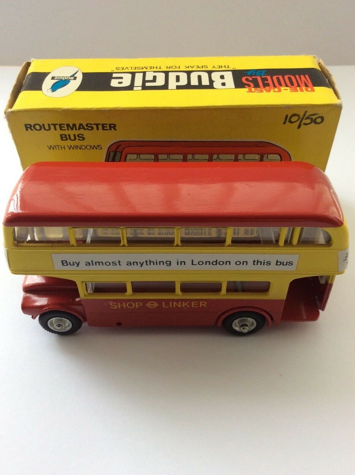 Budgie Toys 236 London Routemaster Bus - SHOP LINKER Model. VNM - Boxed