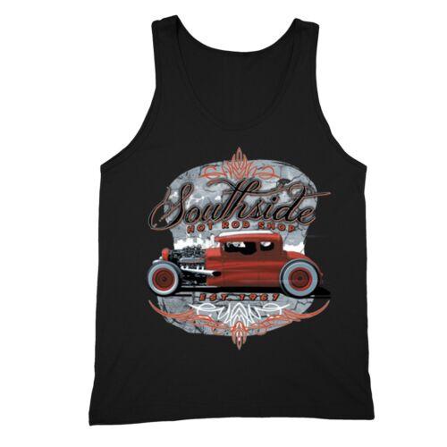 South Side Hot Rod Shop Tanktop Classic Car Garage Engine Motorcycle Motor Tee