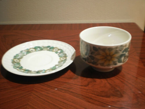 PONTESA MADE IN SPAIN IRONSTONE SUGAR BOWL & SAUCER