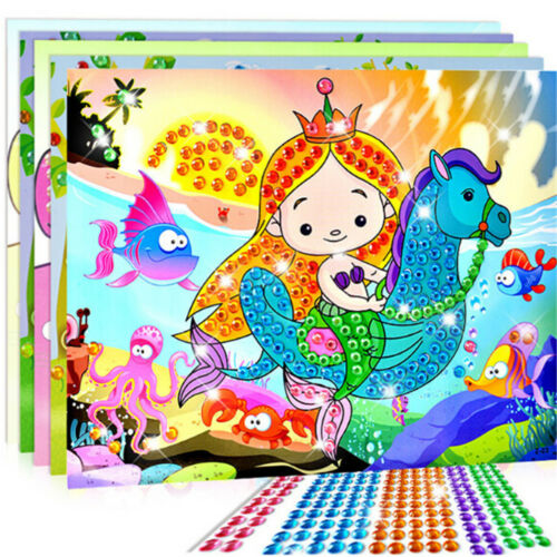 5D Diamond Embroidery Kids Painting Kit Mosaic Learning Puzzles Cartoon BSCA