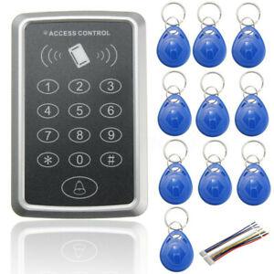 RFID-Controle-d-039-acces-Porte-Lecteur-de-Carte-Digicode-10-Cle-Maison-Securite