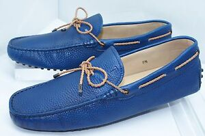 206af33f60b New Tod s Mens Shoes Drivers Woven Lace Loafers Size 10.5 Blue Slip ...