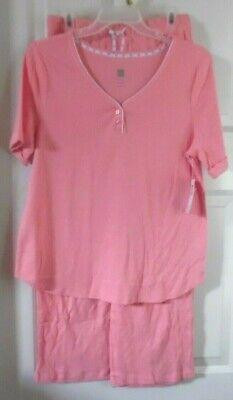 Intimates & Sleep Sleepwear & Robes Purposeful Coral Pajamas Long Pants & Top Short Sleeve Karen Neuburger Small Aromatic Character And Agreeable Taste