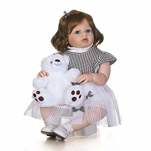 28  Bebe Reborn Realista Bebé Niños que empiezan a caminar muy dulce de pelo corto Juguete Niñas Arianna