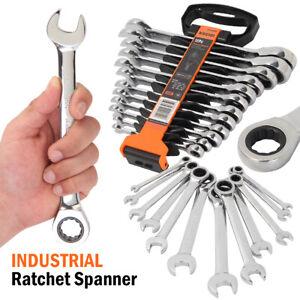 Trinquete-de-Metrica-Imperial-SAE-Combinacion-Spanner-Set-Gear-Wrench-Extremo-Abierto-24-pulgadas