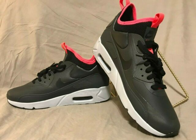 Nike Air Max 90 Ultra Mid Winter Anthracite Black Solar Red 924458 003