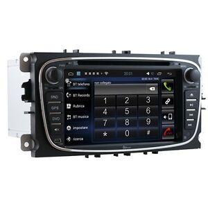 AUTORADIO-Android-6-0-FORD-S-MAX-KUGA-MONDEO-C-MAX-Navigatore-Comandi-Volante
