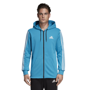 Details zu Adidas 3 Stripes Full Zip Hood French, Sportjacke, Sweatjacke, Jacke, DX2487 K1