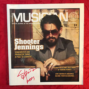 SHOOTER-JENNINGS-AUTOGRAPH-INTERNATIONAL-MUSICIAN-MAGAZINE-HAND-SIGNED-VERY-RARE