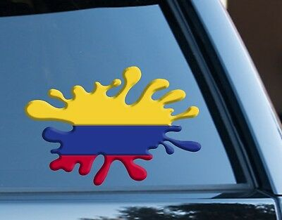 Sticker car moto map flag vinyl outside wall decal macbbook colombia