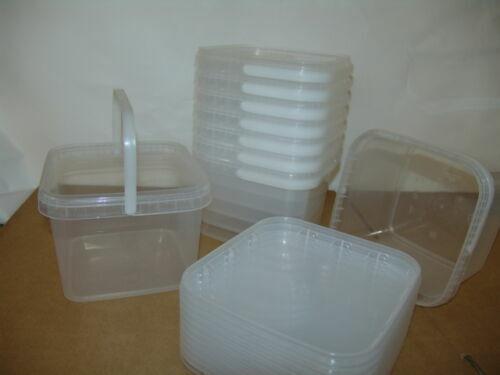 lebensmittelecht Kunststoffeimer transparent mit Deckel 4,0 Liter