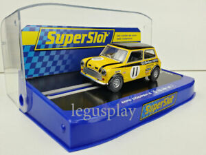 Slot-car-Scalextric-Superslot-H3640-Mini-Cooper-S-11-BSCC-1969-Silverstone