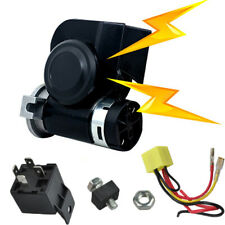 Loud Compact Dual Tone Electric Air Horn Motorcycle 12v 136db