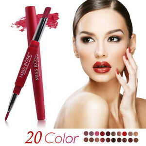Double-Head-Long-Lasting-Waterproof-Lipstick-Pen-Matte-Lip-Liner-Pencil-NEW-C998