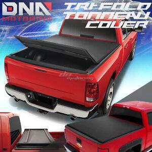 For 05 15 Toyota Tacoma 5 Black Tri Fold Adjustable Soft Top Trunk
