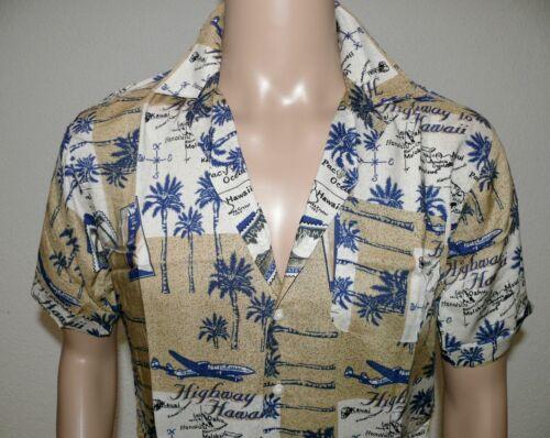 QC Quality Clothing Havaii Herren Sommer Hemd Shirt Kurzarm Slim XS S M L Beige