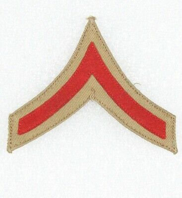 red on white Army Rank Chevron:  Artillery Corporal pair 1902 style