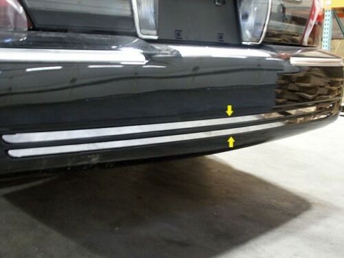 RB38480 MERCURY GRAND MARQUIS 98-11 2PC Stainless Steel Rear Bumper Trim Accent