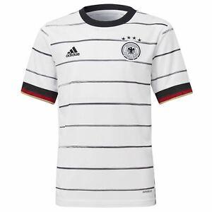 Détails sur Adidas Allemagne Domicile Chemise 2020 Juniors Blanc Football Haut Jersey