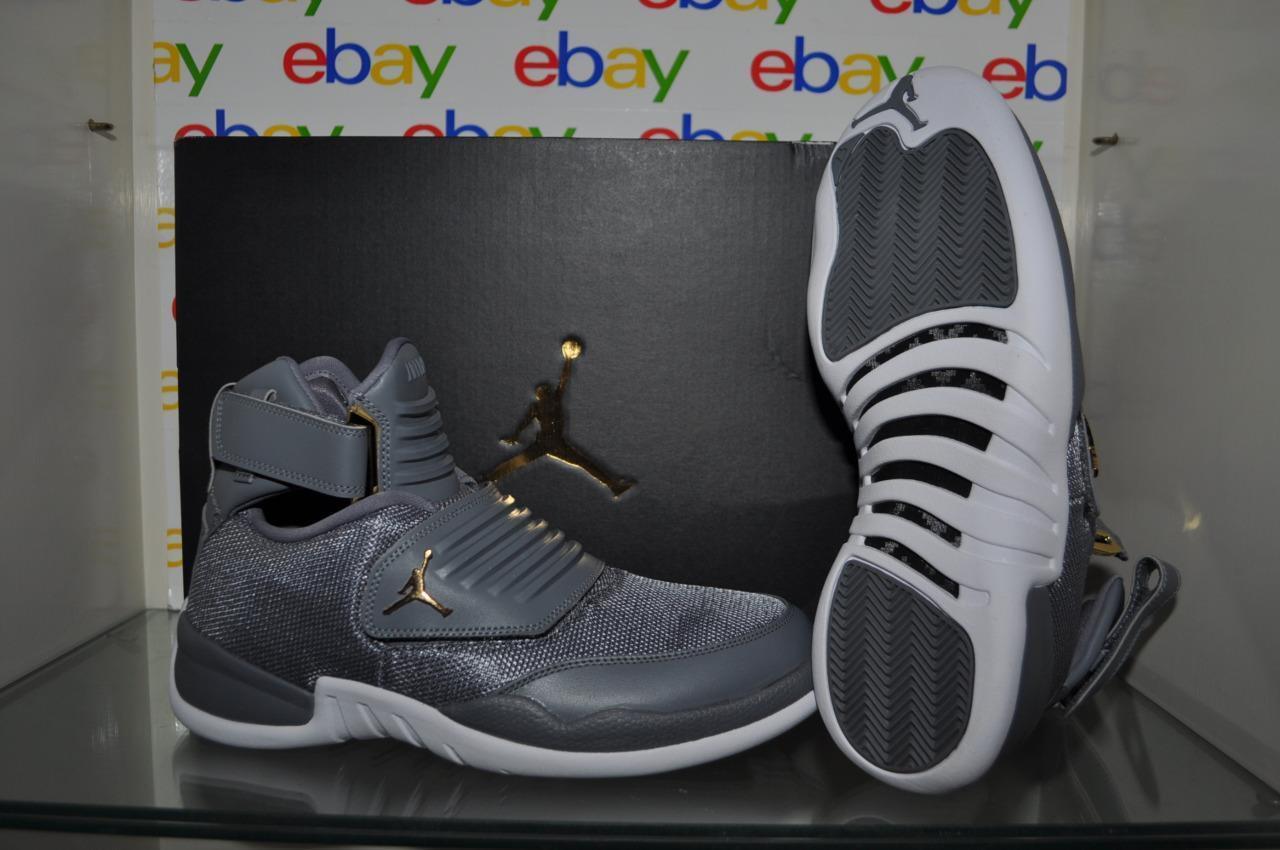 Nike Air Jordan Generation 23 Mens Basketball shoes Cool Grey White-gold NIB