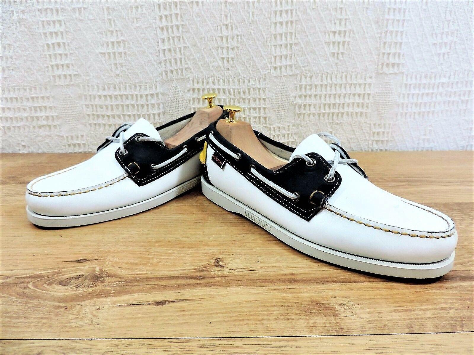 Neu Sebago Deckschuhe Blau Weiß Gelbe Schuhe - UK 8.5 Us 9,5    | Ausgezeichnete Qualität
