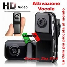 MINI DV VIDEOCAMERA MICRO TELECAMERA ON-BOARD SPORT CASCO SOFT MD 80 WEBCAM SPY