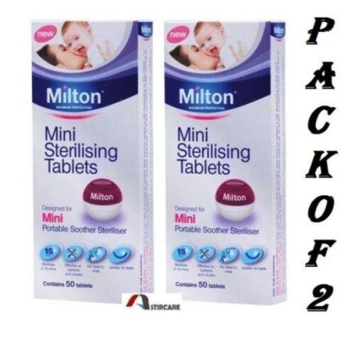 2 x Milton Maximum Protection Mini Sterilising 50 Tablets