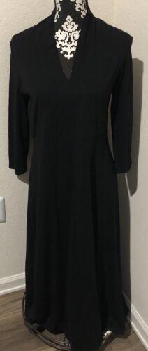 Eileen Fisher v neck long sleeve dress SZ S