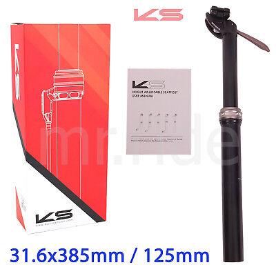 KS Kind Shock DROPZONE Bike Seatpost 31.6x385mm,Travel:125 with Lever