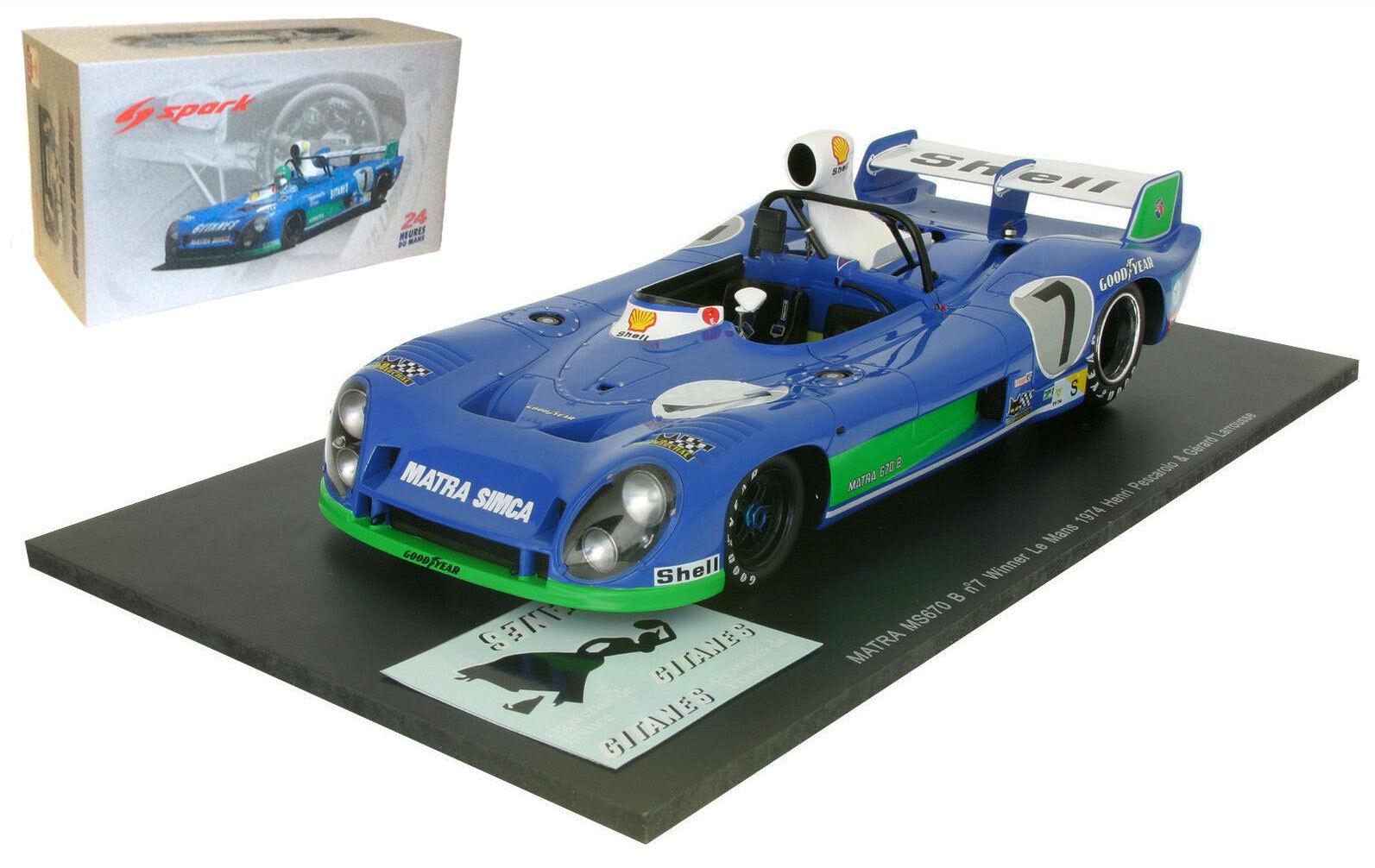 Spark 18LM74 Matra Simca MS670B Le Mans Winner 1974 - Pescarolo Larrousse 1 18