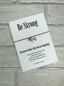 Lion Wish String Bracelet Be Strong You Never Know Who You Are