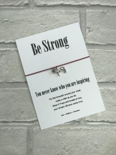 You never know who you are inspiring Lion Wish String Bracelet Be strong