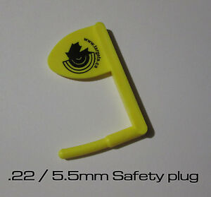 22-5-5mm-Breech-Plug-Safety-flag-Range-Safety-Plastic-made