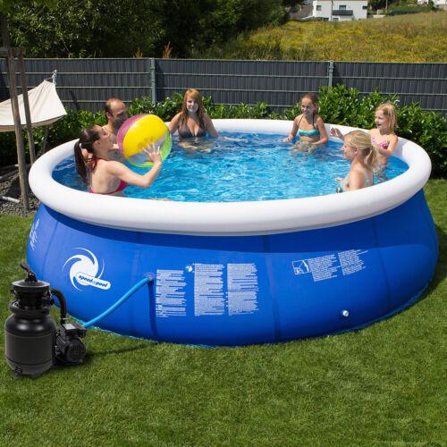 Pool 366x84 Easy Sandfilter Schwimmbecken Schwimmbad Planschbecken Swimming
