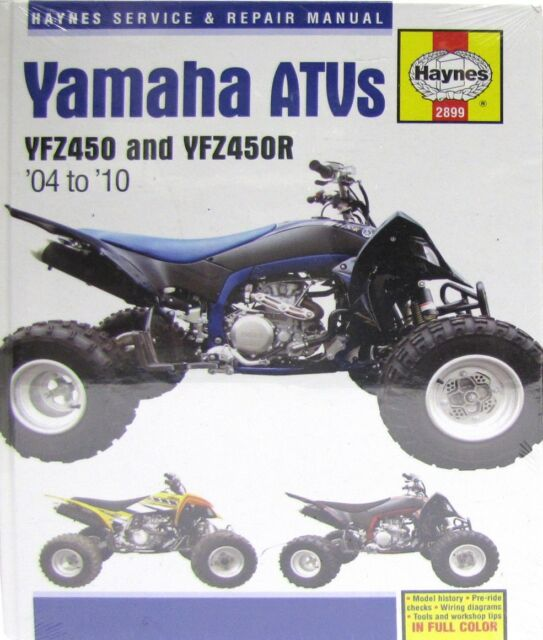 Haynes Workshop Repair Service Manual Covers Yamaha Yfz450