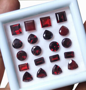19-Cts-20-Pcs-Natural-Garnet-Wholesale-Lot-Top-Quality-Mix-Faceted-Gemstone