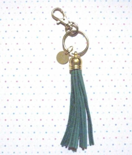 Personalized Leather Tassel Keychain With Lobster Key Ring and Split Key Ring