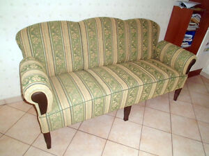 ostfriesensofa k chensofa 3 sitzig gr nem landhaus boxspring federung ebay. Black Bedroom Furniture Sets. Home Design Ideas