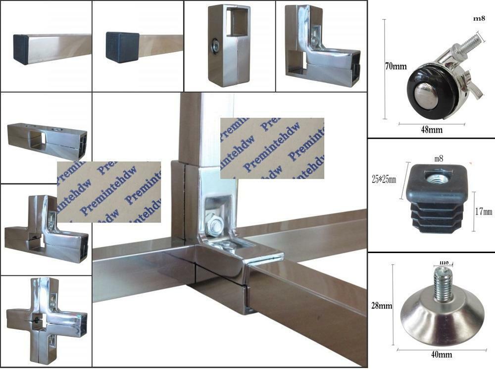 4Pcs/Lot Aluminum 25x25mm Square Pipe Fittings Tube Cla
