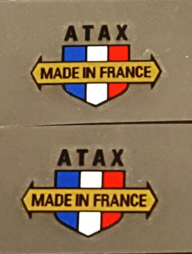 ATAX Component Decals - 1 Pair 26mm wide - Metallic Gold Arrow (sku 11241)