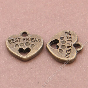 10pc-Love-heart-BEST-FRIEND-Pendant-Charms-Accessories-Antique-Bronze-B338P