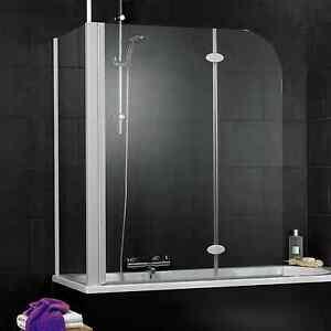 Badewannenwand Badewannenaufsatz Duschabtrennung Faltwand ... | {Duschabtrennung badewanne mit seitenwand 56}