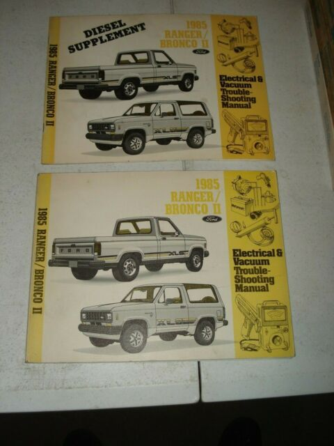 1985 Ford Ranger Bronco Ii Wiring  U0026 Vacuum Service Manuals Electrical Shop Book