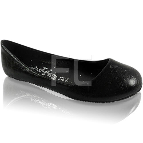 NEW WOMENS LADIES FLAT GRIP DOLLY PUMPS SHOES SIZE 3 AND 8 WORK SCHOOL