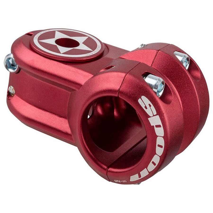 Spank Spoon Stem 40mm Red 31.8mm